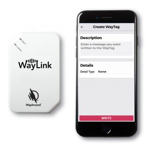 WayLink Scanner next to an iPhone 7.