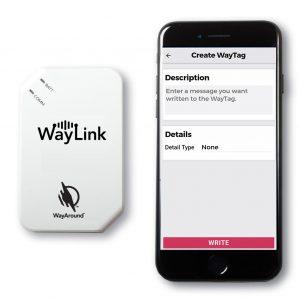 WayLink Scanner next to an iPhone 7.